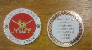 BRITISH ARMY COIN